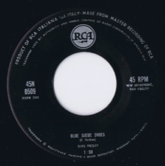 45N 0509 Blue Suede Shoes / I'm Counting On You - Code#T