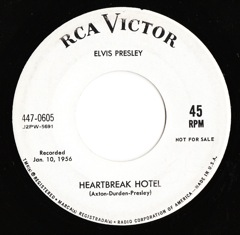 447-0605 Heartbreak Hotel / I Was The One - Code # 1 PROMO M