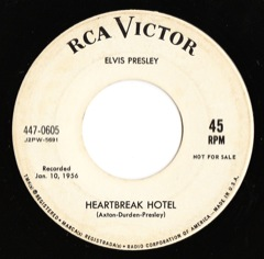 447-0605 Heartbreak Hotel / I Was The One - Code # 2 PROMO M -