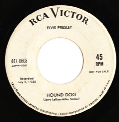 447-0608 Hound Dog / Don't Be Cruel Code # 2 PROMO VG