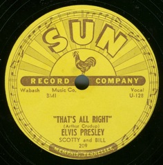 SUN 209  That's All Right / Blue Moon Of Kentucky - USA