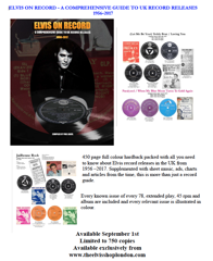 Elvis On Record/A Comprehensive Guide To UK Record Releases - Hardback P.Alner - Available NOW !!